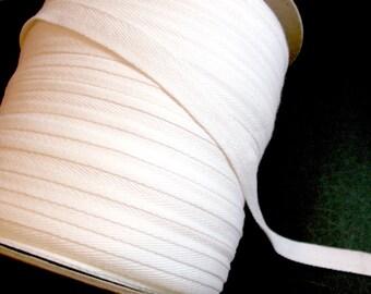 White Twill Tape, White Cotton Twill Tape Ribbon 5/8 inch wide x 5 yards