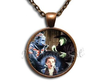 Wizard of Oz Flying Monkey - Round Glass Dome Pendant or with Necklace by IMCreations -  WZ109