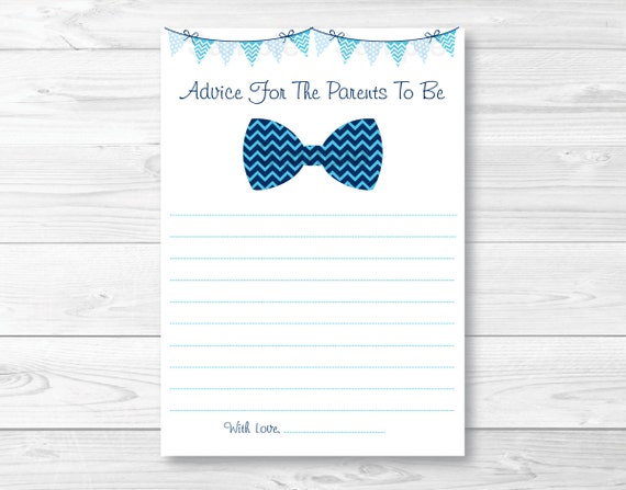 Bow tie mommy advice cards words of wisdom chevron bow tie il570xn ccuart Choice Image