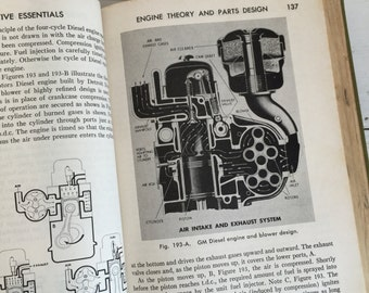 Vintage Car Book - Automotive Essentials 1950 - Library Book - Guide to Auto Repairs