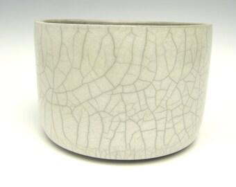 Contemporary succulent planter white Raku cactus planter Bonsai planter Ceramic pottery planter Herb planter 5 3/4 x 3 3/4 Free shipping 0-6