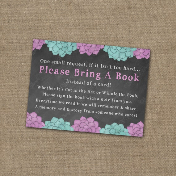 please bring a book instead of a card baby shower invitation library