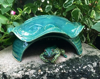 Ceramic Toad House - Frog House - Handmade Toad Abode - Dragonfly - Nature Inspired Pottery - Garden Decor for the Garden
