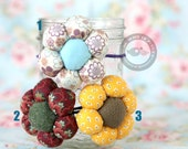 1 Flower ponytail holder- pick your own - 2.5 inches
