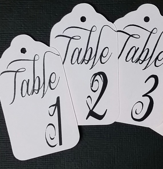 """20 Table Number Tags 2 1/2"""""""
