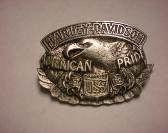 vintage harley davidson pin AMERICAN PRIDE 1992 made in usa