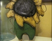 anthropomorphic Sunflower standing Flower Doll Whimsical creepy cute angry country kitchen decor Farm Quirky hafair ofg team