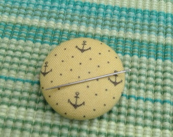 Yellow Anchor Needle Keeper Needle Minder Anchor Needle Keep Anchor Pin Keep Embroidery Supplies Sewing Supplies Magnetic Needle Keep