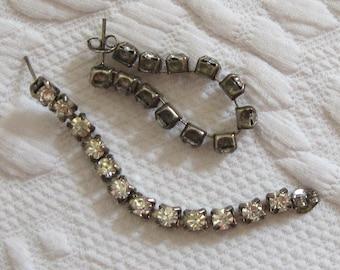 Rhinestone Earrings .  Rhinestone Hoop Earrings for Pierced Ears . rhinestone hoops