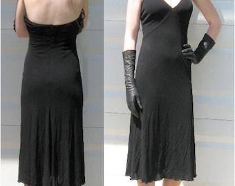 Black Halter Dress . Black Party Dress .  XS  halter top dress