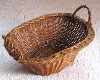 wicker basket . oval wicker basket . Wicker Basket with Handles . small laundry basket