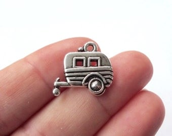 4, Camper Trailer Charms 20x19mm