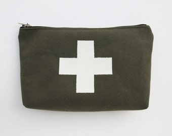Army Swiss Cross Canvas Pouch