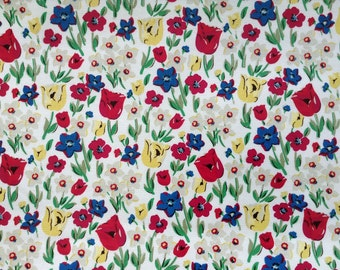 4023 - Cath Kidston Paradise Fields (Offwhite) Oilcloth Waterproof Fabric - 28 Inch (Width) x 17 Inch (Length)