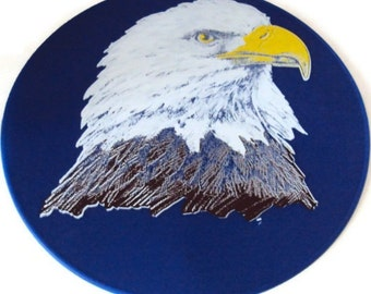 Blue Silicone  Eagle Table Trivet, Table Hot Pad, Kitchen Hot Pad, Table Placemat,Table Decor