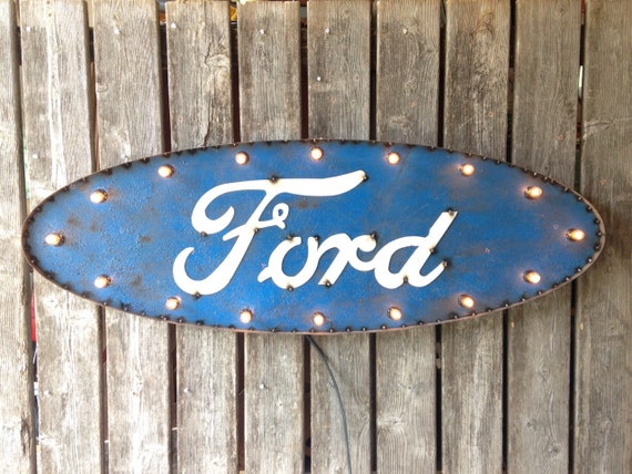 3 foot FORD marquee sign - blinking lights
