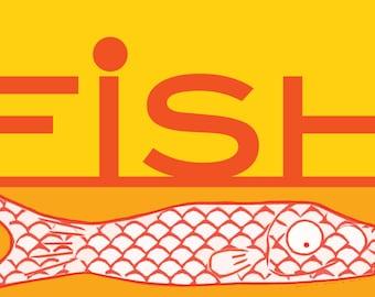 Fish  Art Print by Giraffes and Robots