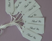 """20 x white  thank you tags 2.3/4"""". x1.1/4"""" gifts,wedding,favors,party"""