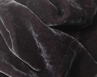 AMETHYST PURPLE Silk Velvet Fabric - 1 Yard