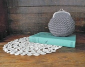coin purse ~ kiss frame purse ~ crochet pouch
