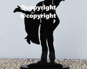 Fireman Firefighter Fire Dept carries Bride wedding cake topper silhouette~Exclusive Design!