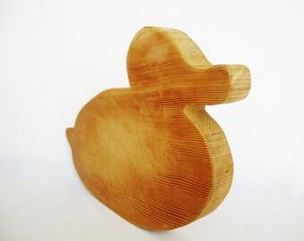 vintage wood cutting board duck