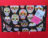 Mexican Sugar Skulls Diaper and Wipes Case Holder Clutch