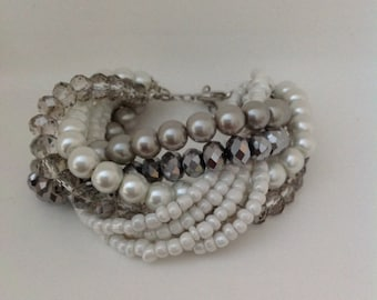NEW Collection Weddings Freshwater Pearl Bracelet with Rhinestones brides bridesmaids