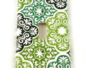 Switchplates Light Switch Cover Wall Decor  Single Switch Plate in Verde (213S)
