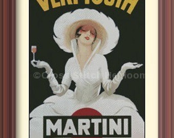 Vermouth Martini Cross Stitch Pattern