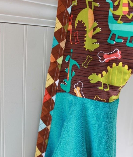 Child Robes-Boys-Bath-Boy-Robe-Swim-Dinosaurs-Dino ...
