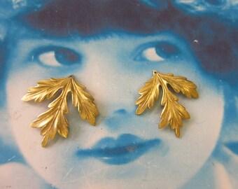Raw Brass Leaf Stampings 686RAW x2