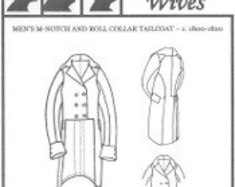 Regency Men's Tailcoat Pattern with rolled/notch collar