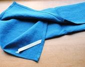 Linen Dish Towel Blue Kitchen Towel Guest Towel Tea Towel Hand Towel