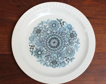 Pontesa Toledo salad plate, mid century modern serving made in Spain. Castilian Collection.