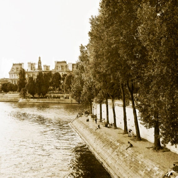 Paris Riverbank II  Archival Print