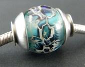 Lampwork Beads, Trollbeads, Biagi, Chamilia, Lampwork Glass Beads, Big Hole Beads, Lampwork Focal Bead, European Charms, Glass Slider Bead