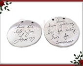 3 Reversible Silver Pendants -  Learn from Yesterday, Live for Today, Hope for Tomorrow - Live the Life You Love PS107