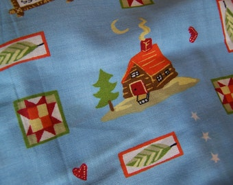 bless our cabin cotton  fabric