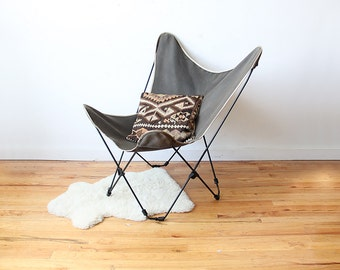 Iron Mid Century Butterfly Chair (Pair Available)