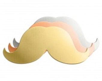 "Copper - Mini Mustache Blanks - 1/2"" x 1/4"" x 24 gauge - Qty 3, stamping, metal blank, Impress Art, shape blanks, heart, supply, supplies"