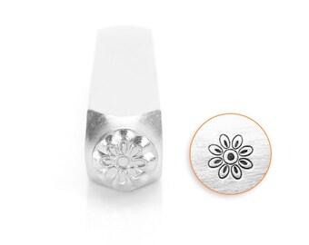 Floret Design Stamp, Metal Stamp, 6mm, SC1514-B-6MM, Carbon Steel Design Stamp, ImpressArt Design Stamp, Flower Design Stamps