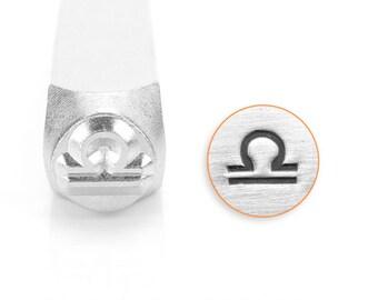 Libra Design Stamp, SC1521-G-6MM, Zodiac Stamps, Metal Stamp, Carbon Steel Stamp, ImpressArt Stamp, Metal Works Stamp