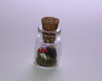 Tiny Fuzzy Woolybear Caterpillar In A Bottle Made In Scotland