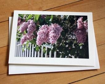 Handmade Greeting Card with Lilacs