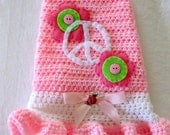 XS Dog Sweater Peace and Pink New