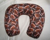 Adult Travel/Recliner/Hospital Bed Pillow in Football Fabric