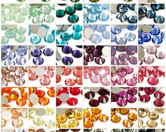 12+ Pieces - Custom Make Your Own Mix Mixed Swarovski Flatback Rhinestones No Hotfix Xilion Rose Crystals 2058 SS34 7mm Flat Back Stones