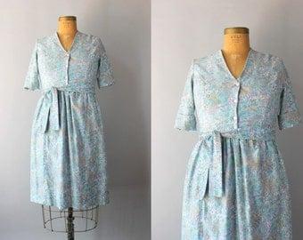 vintage 60s dress / vintage Bluebell dress / 1960s floral cotton day dress