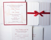 Mary Poppins Wedding Invitation, Disney wedding invitations, Unique, Red, Striped, Romantic, Elegant invitation, bat mitzvah invite -Deposit
